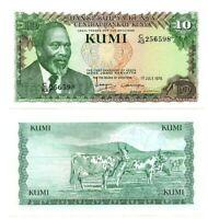 KENYA 10 Shillings (1978) P-16 UNC Banknote depicting Kenyatta Paper Money