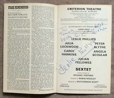More details for theatre programme signed by leslie phillips; 'sextet' at the criterion, 1977