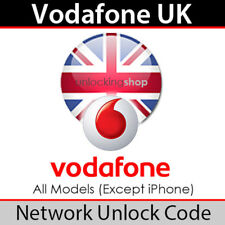 Vodafone UK Network Unlock Code (All Models except iPhone)
