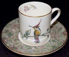 Wedgwood Demitasse / Chocolate Cup & Saucer Humming Birds Gold Trim FREE S&H