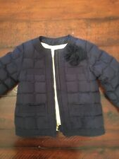 Jcrew Crewcuts Girls Jacket Size 4-5 Euc Navy
