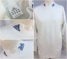 UCLA Bruins Adidas Shirt Mock Neck M White Long Sleeve 100% Cotton YGI P9-111