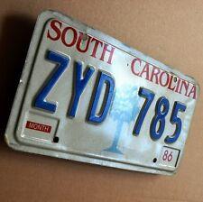SOUTH CAROLINA Altes Nummernschild USA 1986 License Plate ZYD 785  PALMETTO TREE
