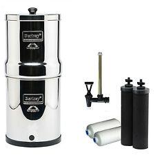Big Berkey Water Filter 2 Gallons + SIGHT GLASS w/2 Black Elements & 2 Fluoride