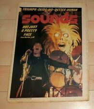 IRON MAIDEN SOUNDS MAGAZINE PAUL DIANNO ON COVER OCTOBER 18TH, 1980 GREAT SHOT!