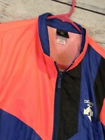 VINTAGE DESCENTE CYCLING Windbreaker Hot Pink And Purple Large And Black Pants