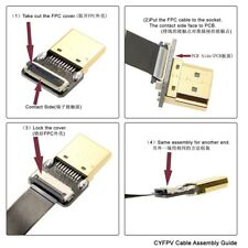 FPV 20cm 90 Degree Up Angled Mini HDMI Male to HDMI Male FPC Flat Cable K6