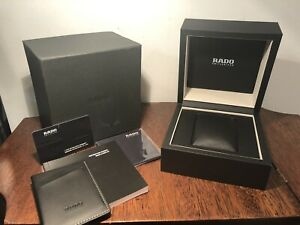New! Genuine RADO Switzerland Watch Presentation Box Ivory And Black