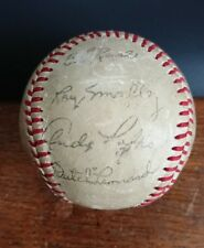 1949 Chicago Cubs Stamped Signed Baseball