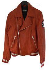 Frankie Morello Milan Mens Red Leather Jacket Size 48/Medium