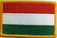 HUNGARY Flag Patch with VELCRO® brand fastener Military Tactical Gold Emblem #7