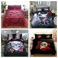 Gothic Skull Duvet Cover Set Twin/Full/Queen/King Size Bedding Set Pillowcase