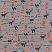 Moda SPOOKY 2906 15 Black Gray Strips BUNNY HILL Quilt Fabric Halloween