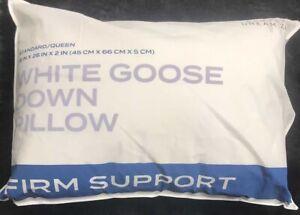 """Wamsutta Dream Zone Goose Down Pillow Firm Support Standard Queen 18x26"""" 600 Tc"""
