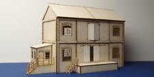 LCUT Creative B 00-16 Lineside Warehouse Wood Kit OO Gauge