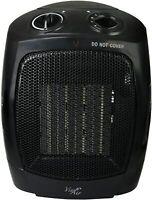 Vie Air Portable 3-Settings Ceramic Heater w/ Adjustable Thermostat, 1500W Black
