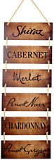 "Excello Global Products Large Hanging Wall Sign: Wine Decor(11.75"" x 32"")"