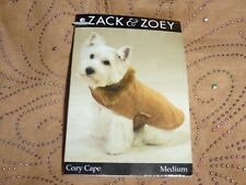 DOG/Pet  COZY CAPE   by Zack & Zoey   size Medium   NWT  irridescent scroll