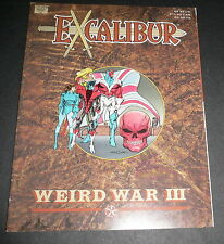 Excalibur Weird War 3 Higgins Marvel Graphic Novel 1st Printing Dec 1990 NM