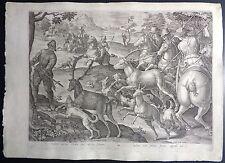 Stradanus Stradano Galle 1578 Caccia Cervo Hunting Deer Cosimo I Medici