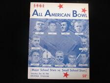 December 30, 1961 All American Bowl Football Program
