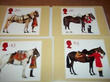 All the Queen's Horses 8 July 1997  PHQ 189 set Royal Mail Stamp Card Series