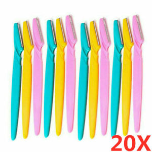 20Pack Eyebrow Brow Shaper Razor Blade Facial Hair Trimmer Remover Dermaplaning