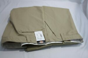 Dickies New Mens Pants Size 54 x 36 Khaki Work Wear Flat Front Double Knee