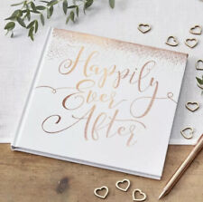 Rose Gold Foiled Happily Ever After Guest Book - Beautiful Botanics