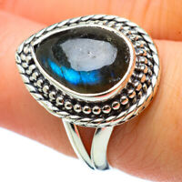 Labradorite 925 Sterling Silver Ring Size 7.75 Ana Co Jewelry R32782F