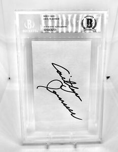 """CAITLYN """"BRUCE"""" JENNER SIGNED / AUTOGRAPH INDEX CARD BECKETT CERTIFIED OLYMPICS"""