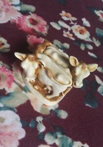 "HARMONY KINGDOM ""Jersey Belles"" Cow Trinket Box 1995"