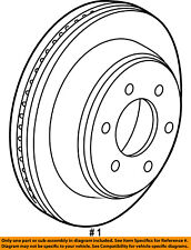 FORD OEM 17-18 F-150 Rear Brake-Rotor FL3Z2C026C