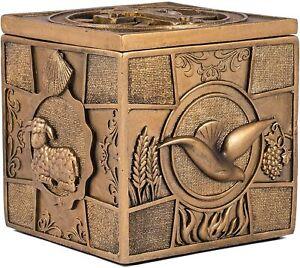 3.5 x 3.5 Inch Bronze Sacrament Keepsake Box