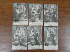 6 x CPA POSTCARDS POSTKARTE / PRES DU MAQUIS 1904 SERIE COMPLETE