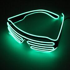 Hot Wire Neon LED Light Up Shutter Shaped Glasses for Costume Red+Blue DE