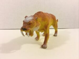 Vintage 1989 Imperial Sabretooth Tiger Prehistoric Toy Figure