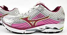 Mizuno Wave Rider 15 Anniversary Womens Running Shoes White Pink Silver Sz 8