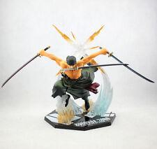 One Piece Roronoa Zoro Wado Ichimonji PVC Figure with katana sword 17cm