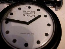 HUGE WHITE DIAL POP SWATCH WATCH 4U2FIX AND NO BAND
