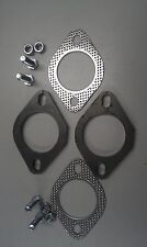 "EXHAUST FLANGE PLATES 57MM 21/4""INCH GASKETS & BOLTS"