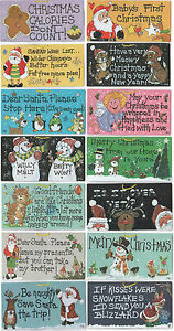 CHRISTMAS SIGN New Funny Xmas Wall Hanging Plaque Smiley Signs *SENT 1ST CLASS*