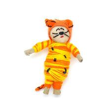 *SPECIAL* One (1) piece Guatemalan Orange & Yellow Cat Wish Doll / Worry Doll
