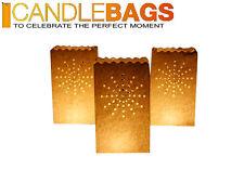 Candle Bags Sacchetti Porta Candela Fireworks Ignifughi Biodegradabili Conf. 5pz