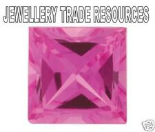 Natural Pink Sapphire Square Cut 3mm Gem Gemstone