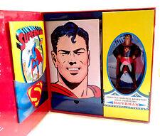 "DC Comics Vintage1940's style SUPERMAN 10"" MASTERPIECE statue figure & books"