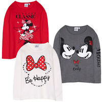 Disney Minnie Mouse Girls Long Sleeve Cotton Tops T-Shirts Shirts Tees 2-8 Yrs