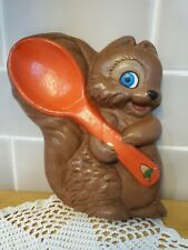 Vintage Art Pottery Squirel Wall Hanging Decoration Kitchen Collectible