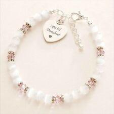 Personalised Bracelet with Engraving & Birthstones, Ladies & Girls Sizes!