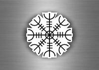 Sticker icelandic symbol magic viking odinicraven odin invincible